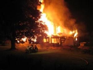 delaware county fire damage